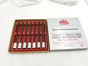 Mac Tools 3 8 Drive Sae Long Speed Hex Driver Set Sxals7pt