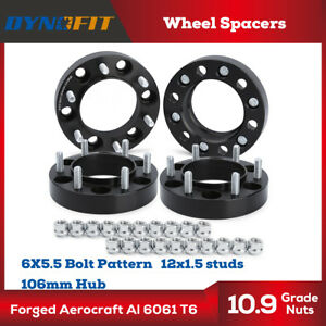 4 X1 25 6 Lug Black Hubcentric Wheel Spacers Adapters 6x5 5 For Toyota Tacoma
