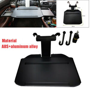 Folding Car Back Seat Table For Drink Food Cup Tray Rack Holder Stand Black Kit