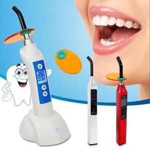 Dental Cordless Optical Led Curing Light Main Unit Optical Fiber Hood 420 480nm