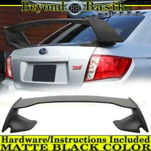 For 2008 2014 Subaru Wrx Sti 08 11 Impreza Tall Factory Style Wing Matte Black