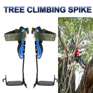 1 Pair Tree Pole Climbing Spike Set Lanyard Rope Rescue Wear resistant Belt