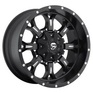 Fuel 1 Piece Krank D517 Black And Milled 18x9 1 8x165 1