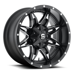 Fuel 1 Piece Lethal D567 Black And Milled 18x9 20 6x135 6x139 7