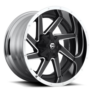 Fuel 2 Piece Renegade D264 Black And Milled With Chrome Lip 22x10 13