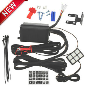 Universal 12v 6 Gang Switch Panel Relay Control Box With Wiring Harness Fits Car