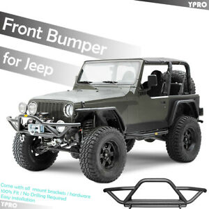 For 1987 2006 Jeep Wrangler Yj Tj Front Bumper Protector Guards Black Textured