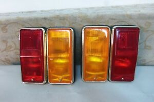 Pair Nos Oem Carello Fiat 125 Samantha Berlina Special S 1967 72 Taillight Lamps