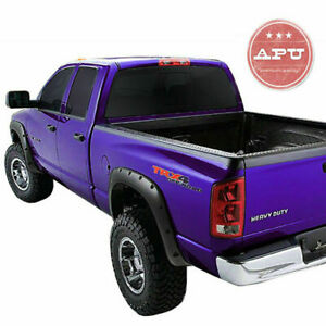 Apu 05 11 Toyota Tacoma 73 5 Long Bed Fender Flares Black Smooth Trims