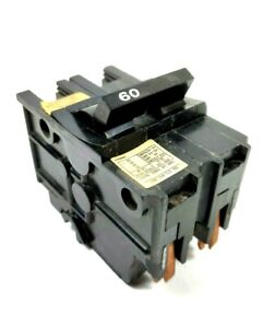 Challenger 60a 2 Pole Listed Circuit Breaker Hacr Type 120 240 Vac Stablock Nos