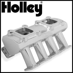 Holley Sniper Dual Quad 4150 Carbureted Fabricated Intake Manifold Ls1 ls2 ls6