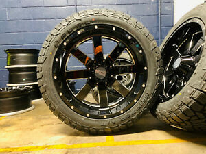 22x10 Mo962 Moto Metal Wheels Rims 33 Fuel At Tires 6x135 Ford F150 Expedition