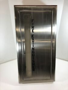 Fire Extinguisher Cabinet C1037v10 W handle Cosmopolitan Stainless Jl Industries