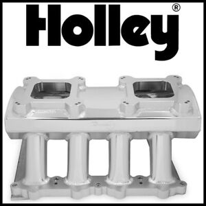 Holley Sniper Dual Quad Carbureted Intake Manifold 2011 2014 Ford 5 0l Coyote