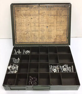 Vtg Ford Sheet Metal Screws Parts Tray Drawer Cabinet Dealer Display Original