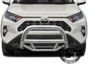 Black Horse Fits 2019 2021 Toyota Rav4 Max Bull Bar Brush Bumper Brush Guard