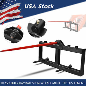 Skid Steer 49 Hay Bale Spear Attachment Heavy Duty Tractor Bale Handling Hitch