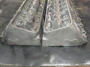 2 1966 3782461 Gm Camel Hump Cylinder Heads Small Block Chevy 1 94 1 50