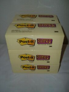 5 400 Post it Super Sticky Notes 3 X 3 Squares Canary Yellow 60 90 Count Pads