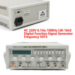 Lw1643 Function Signal Generator Kit Sine Triangle Square Wave 0 1hz 10mhz Usa