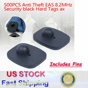 500 Hard Tags W Pins Eas Clothing Security Tags 8 2 Mhz Anti Theft W pins Fast