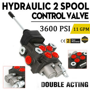 2 Spool Hydraulic Control Valve 11 Gpm Double Acting 40l min Tractors Loaders