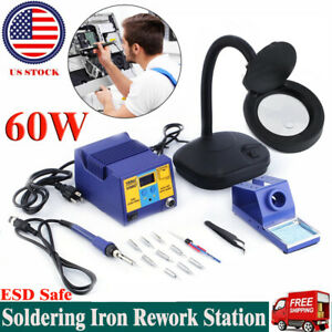 New Soldering Iron Kit Electrical Welding Tool Gun Tips Set Solder Station 60w