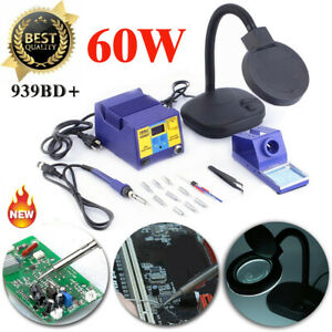 939d Smd Soldering Iron Rework Station Led Display W 10 Tips Complete Kit set