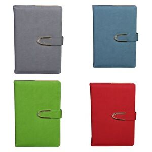 4x business Notepad Stationery Holder A5 Leather Hand Book Diary Book J2s9
