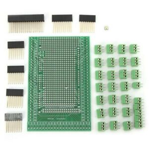 4x double side Pcb Prototype Screw Terminal Block Shield Board Kit For Mega N3