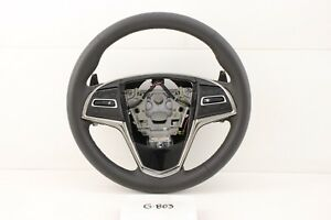 New Gm Oem Cadillac Ats 13 19 Black Leather Steering Wheel 23114430 Paddle Shift