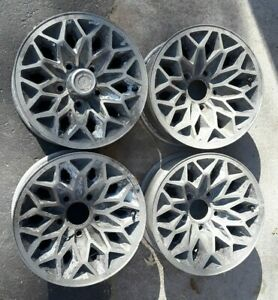 Set 4 Pontiac Firebird Trans Am Grand Prix 14x6 Ws6 Snowflake Rims 2b Restored