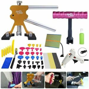 65pc Paintless Dent Repair Tools Kit Pdr Slide Hammer Line Board Hail Removal Us