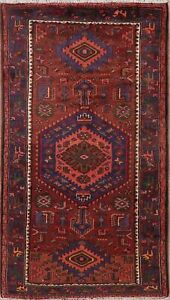 Malayer Geometric Oriental Area Rug Wool Hand Knotted Nomad Carpet 4x8 Clearance