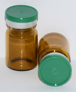Usp 5 Ml Amber Sterile Vial With Green Plain Flip Top Seal Any Qty
