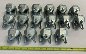 16 Qty Of Bridgeport 953 Size 2 Insulator Support I beam Clamp Malleable Iron