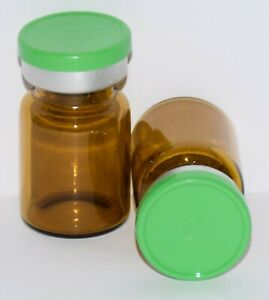 Usp 5 Ml Amber Sterile Vial With Meadow Green Plain Flip Top Seal Any Qty
