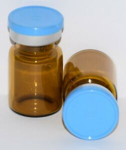 Usp 5 Ml Amber Sterile Vial With Sky Blue Plain Flip Top Seal Any Qty