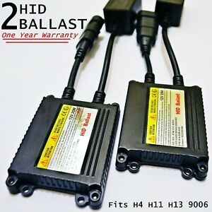 2x Hid Replacement Slim Ballast For 35w Xenon Conversion Kit H4 H11 H13 9006