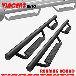Fit 15 20 Colorado canyon Crew Cab 3 Running Boards Side Step Nerf Bar Blk Bcc