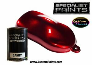 Pint Kit Of Candy Ruby Red Urethane Based Auto Motorcycle Custom Paint