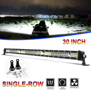 30 inch 780w Cree Led Light Bar Tri row Combo Offroad For Jeep Driving Truck 32