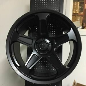22 Demon Srt Style Satin Black Wheels Rims Fits Dodge Charger Challenger