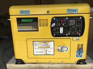 New Everlast Super Quiet Dieselgenerator open Top 6 5kw Remote Start