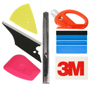 7 Pcs Car Window Tint Wrapping Vinyl Tools Squeegee Scraper Applicator Kits