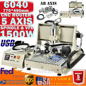 5 Axis Cnc 6040z 1 5kw Aluninum Router Machine For Drilling Milling Usb Engraver