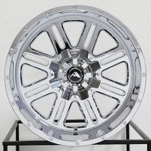 4 new 20 Dsf D6 Wheels 20x10 5x5 5 5x139 7 24 Chrome Rims