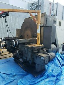 60 Used Lodge Shipley Right Angle T Lathe With Dual Carraige