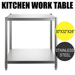 24 x30 Stainless Steel Kitchen Work Prep Table Bench Commercial Restaurant