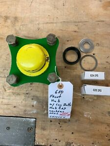 John Deere 650 Tractor Front Hub Assembly bearings Washer Seal And Dust Cap